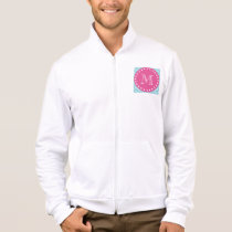 Hot Pink, Blue Chevron | Your Monogram Jacket