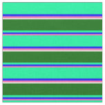 [ Thumbnail: Hot Pink, Blue, Green, Dark Green, and Beige Fabric ]