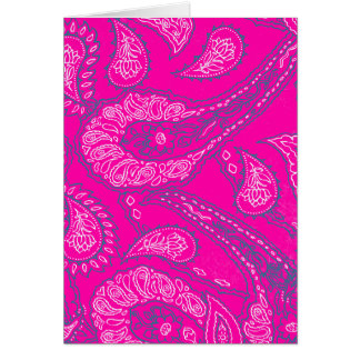 Hot Pink Blue Paisley Print Summer Fun Girly
