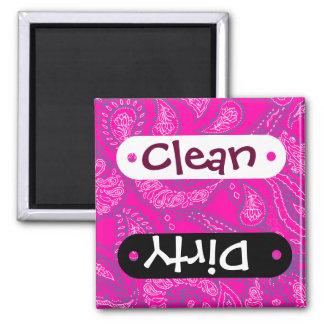 Hot Pink Blue Paisley Print Summer Fun Girly Refrigerator Magnet