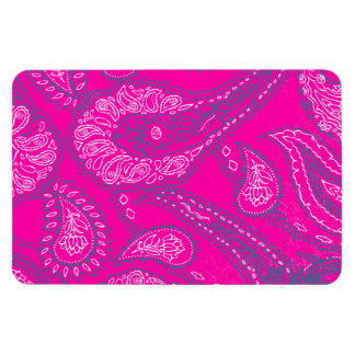 Hot Pink Blue Paisley Print Summer Fun Girly Magnet
