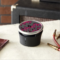 Hot Pink Blue Wavy Abstract Bluetooth Speaker