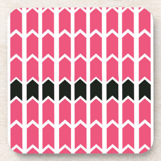 Hot Pink Bordered Fence Panel Coaster