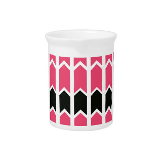Hot Pink Bordered Fence Panel Pitcher