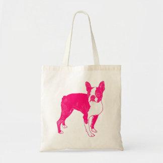 Hot Pink Boston Tote Bag