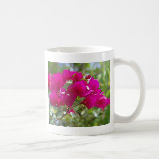 Hot pink bougainvilla coffee mug