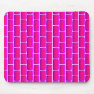 HOT PINK BRICKS BACKGROUND DIGITAL GRAPHICS MOUSE PAD