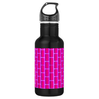 HOT PINK BRICKS BACKGROUND DIGITAL GRAPHICS STAINLESS STEEL WATER BOTTLE
