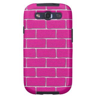 Hot Pink Bricks Galaxy SIII Cover