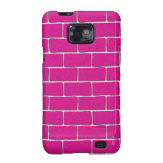 Hot Pink Bricks Samsung Galaxy SII Covers