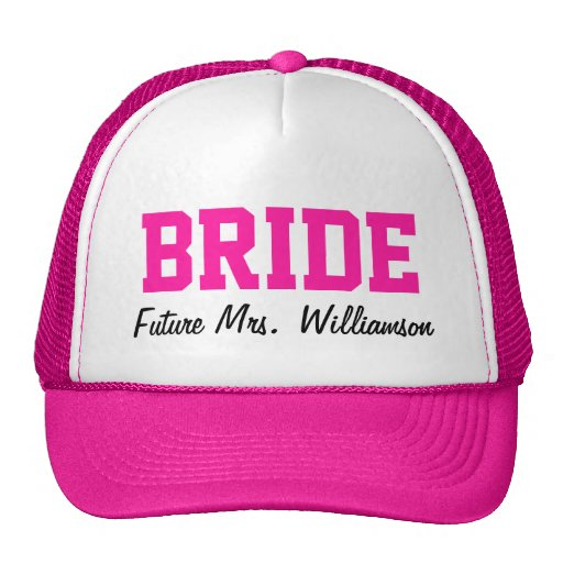 Hot Pink Bride Hat