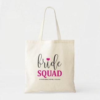"""Hot Pink """"Bride Squad"""" Bridal Shower Tote"""
