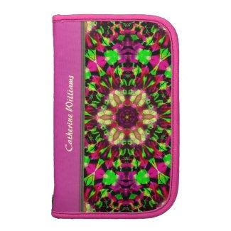 Hot Pink & Bright Green Kaleidoscope Pattern rickshawfolio