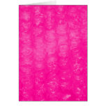 Hot Pink Bubble Wrap Effect Card