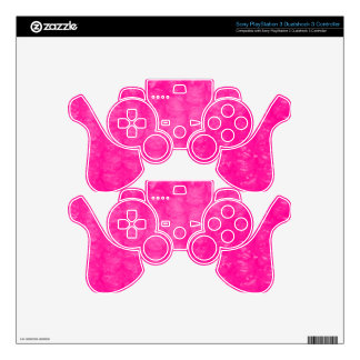 Hot Pink Bubble Wrap Effect Decal For PS3 Controller