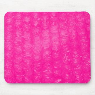 Hot Pink Bubble Wrap Effect Mouse Pad