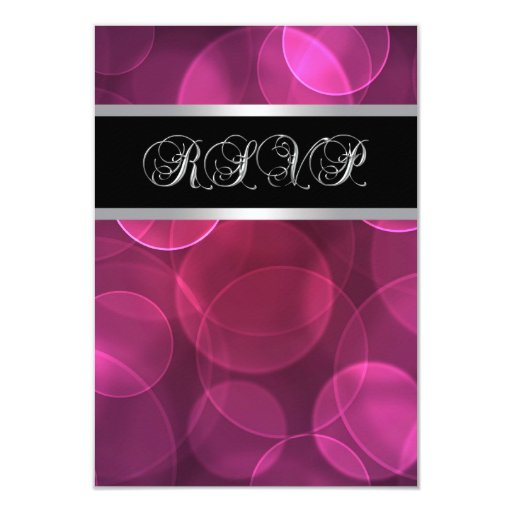 Hot Pink Bubbles RSVP Personalized Invites