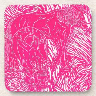 Hot Pink Buford Charging Coaster