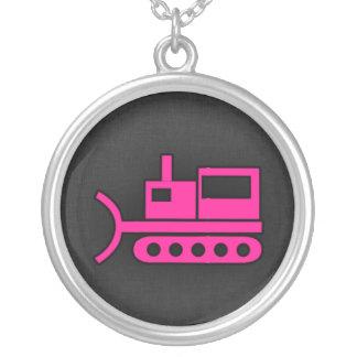 Hot Pink Bulldozer Pendant