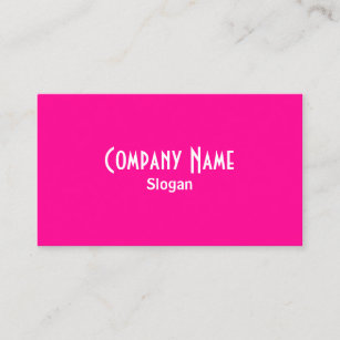 Hot pink business cards zazzle hot pink business card colourmoves