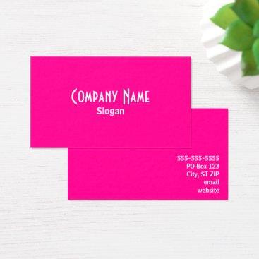 designs4you Hot Pink Business Card