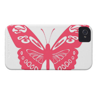 Hot Pink Butterfly Lace Wings Case iPhone 4  Cover iPhone 4 Covers