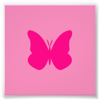 hot pink butterfly photo print