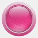 Hot pink button sticker