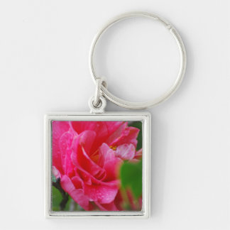 Hot Pink Camelia Flower Key Chains