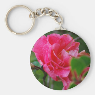 Hot Pink Camelia Flower Key Chain