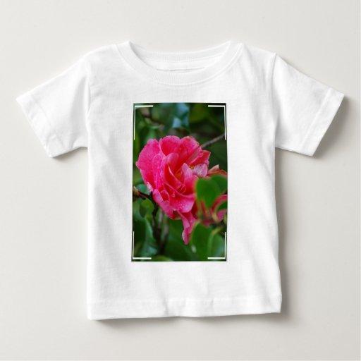 Hot Pink Camelia Flower Tee Shirts