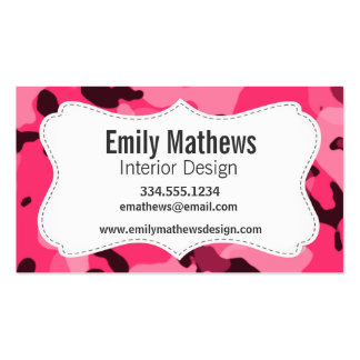 Hot Pink Camo; Camouflage Business Card