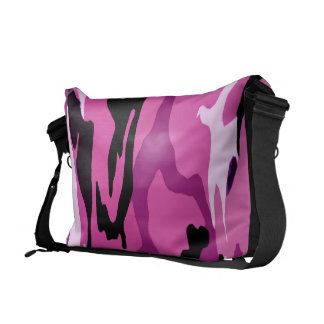 Hot Pink Camo Courier Bag