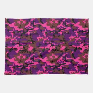 Hot Pink Camo Hand Towel
