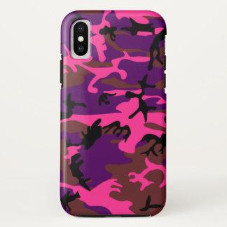 Hot Pink Camo iPhone X Case