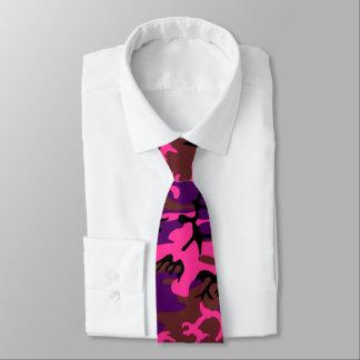 Hot Pink Camo Neck Tie