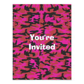 Hot pink camo pattern card