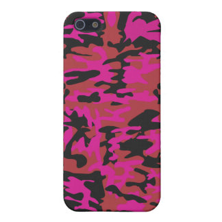 Hot pink camo pattern cover for iPhone SE/5/5s