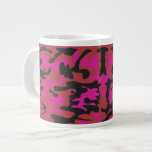 Hot pink camo pattern giant coffee mug