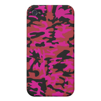 Hot pink camo pattern case for iPhone 4