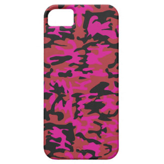 Hot pink camo pattern iPhone SE/5/5s case