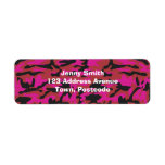Hot pink camo pattern label
