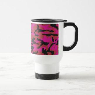 Hot pink camo pattern mug