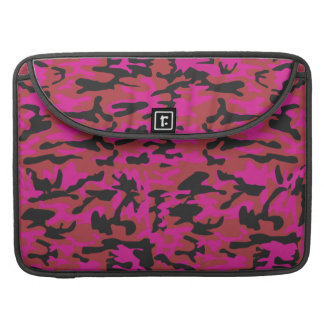 Hot pink camo pattern sleeve for MacBook pro