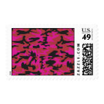 Hot pink camo pattern stamps