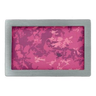 Hot Pink Camo Unique Camouflage Design Pattern Belt Buckles