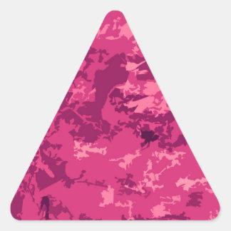 Hot Pink Camo Unique Camouflage Design Pattern Triangle Sticker