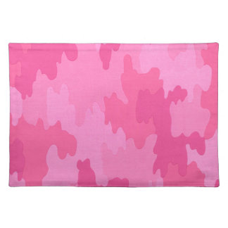 Hot Pink Camouflage Placemat