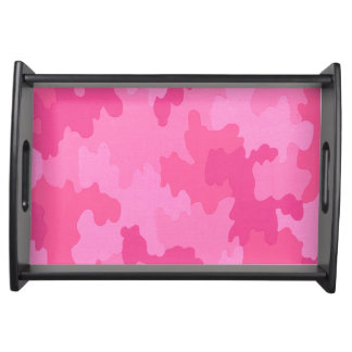 Hot Pink Camouflage Serving Tray