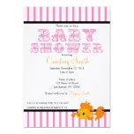 "Hot Pink Carnival Themed Invitation 5"" X 7"" Invitation Card"